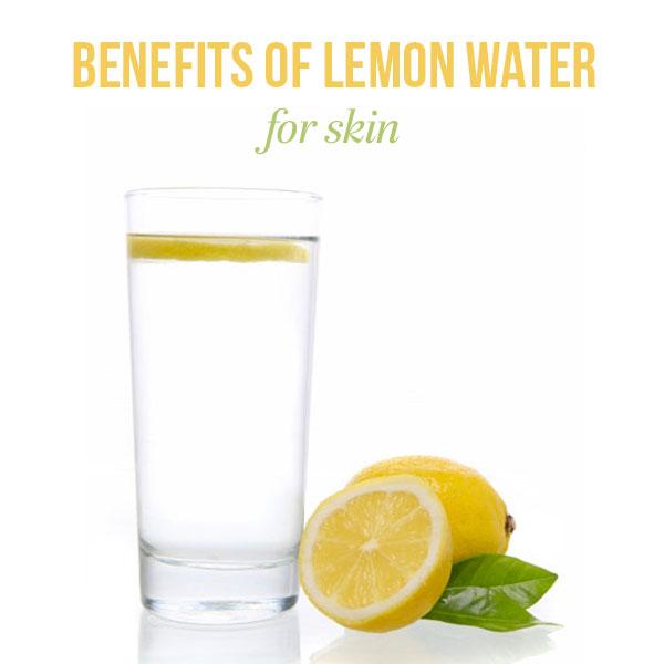 drink lemon water for skin