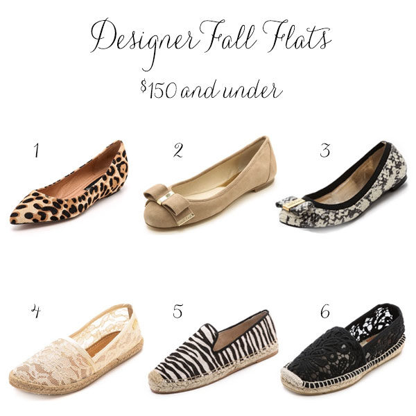 Trending Now: New Fall Flats (Under $150)