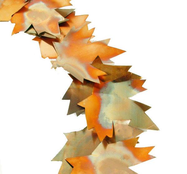 Get Crafty: DIY Copper Leaf Fall Wreath