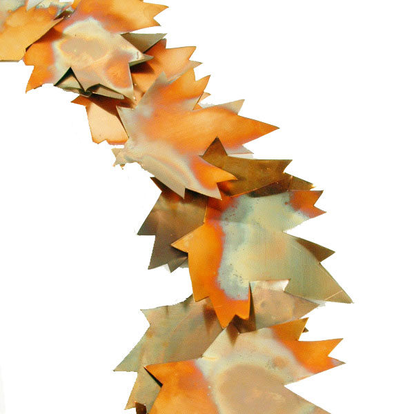 Get Crafty: DIY Copper Leaf Fall Wreath