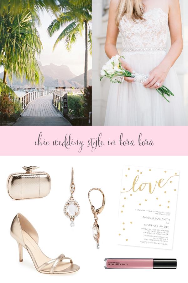 Destination Style - Wedding style in bora bora