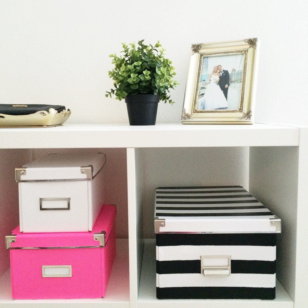 How To: DIY Kate Spade Inspired Striped Nesting Boxes ...