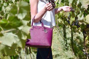 Wine colored handbag  wine colored nails inside a vineyard!hellip