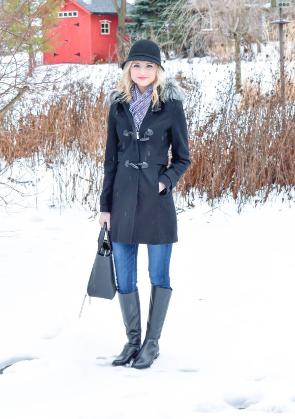 Quilted Knee High Boots + Evanston Cashmere Scarf