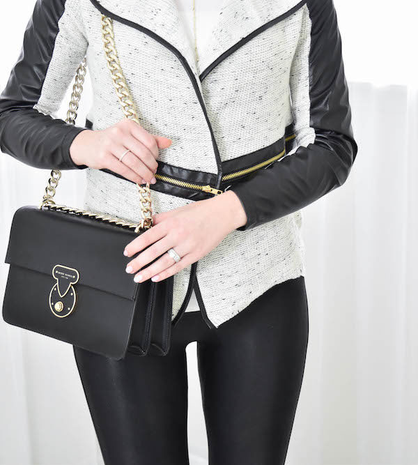 Leather Trim Jacket + Henri Bendel