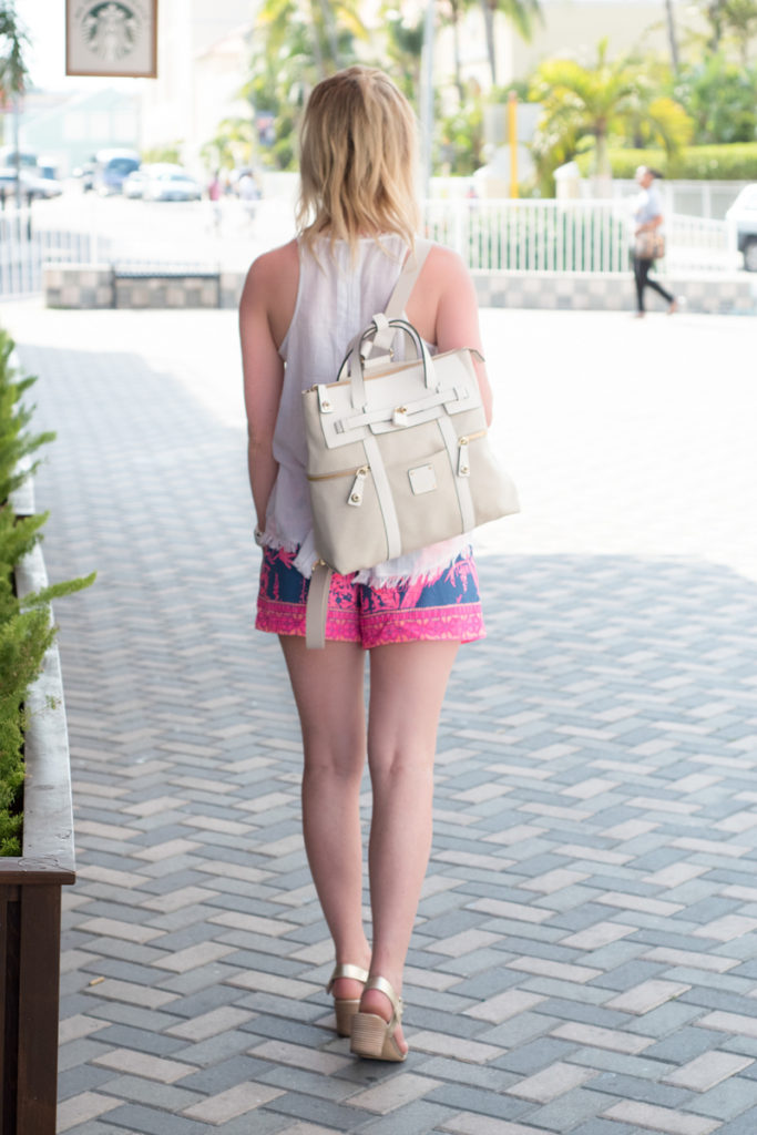 Henri Bendel Jetsetter Backpack Lilly Pulitzer Shorts 2