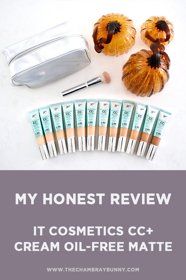 IT Cosmetics CC+ Cream Oil-Free Matte Review