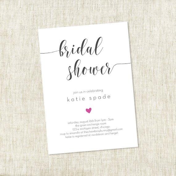 Modern Heart – Bridal Shower Invite