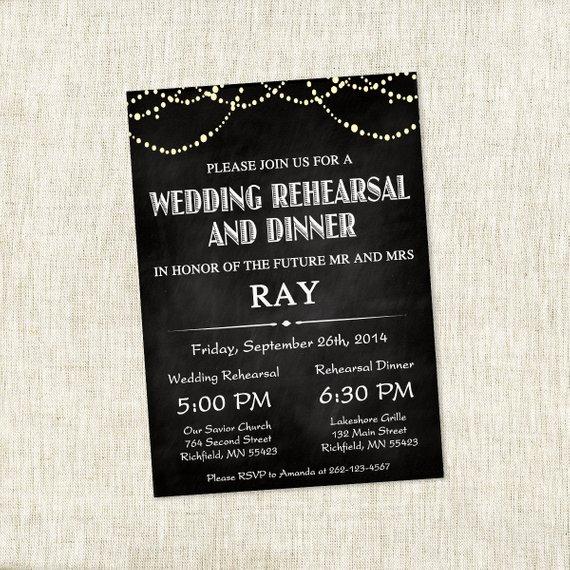 Chalkboard Patio Lights – Wedding Rehearsal Invite