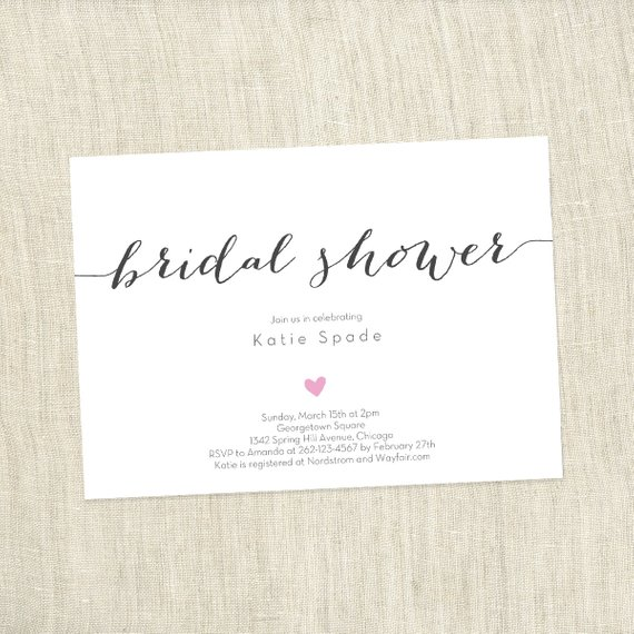 Simple Heart – Bridal Shower Invite
