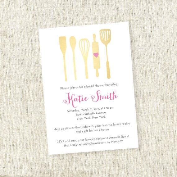 Utensil Kitchen Stock Up – Bridal Shower Invite