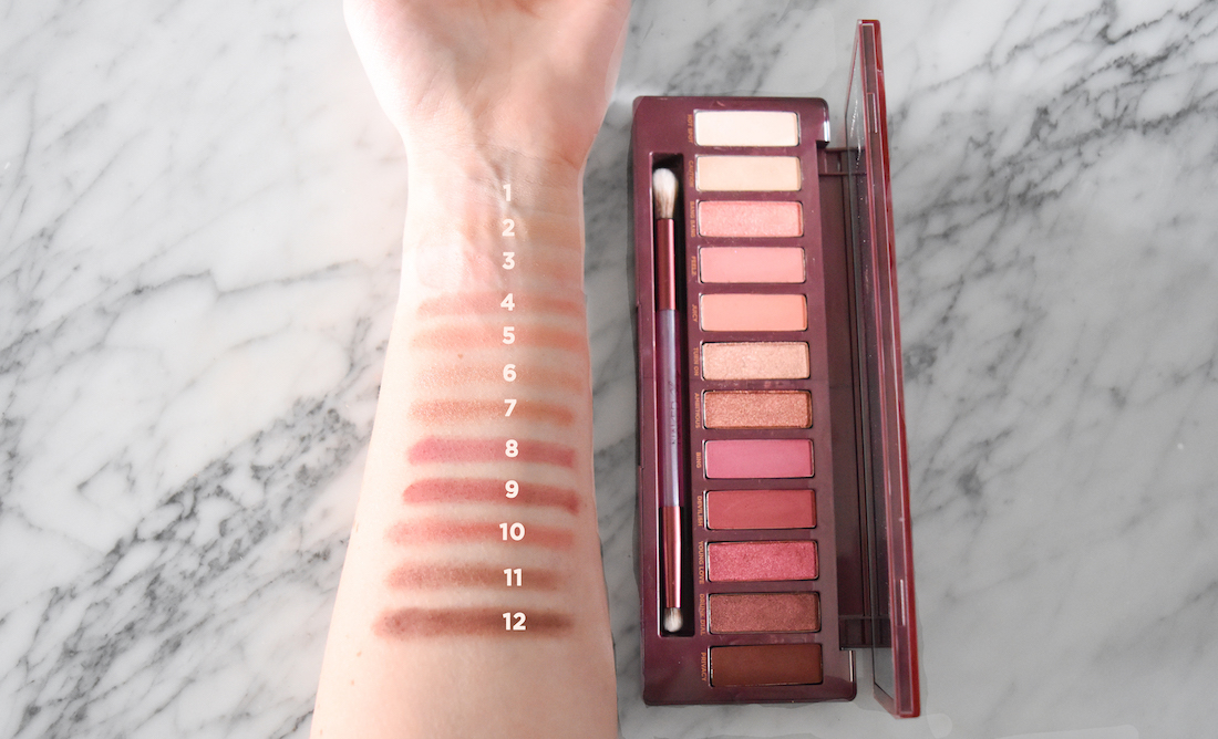 Urban Decay Naked Cherry Palette Swatches
