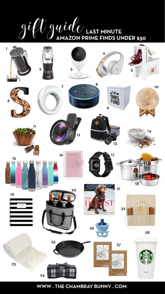 Amazon Prime Gift Guide Last Minute Gifts under $50