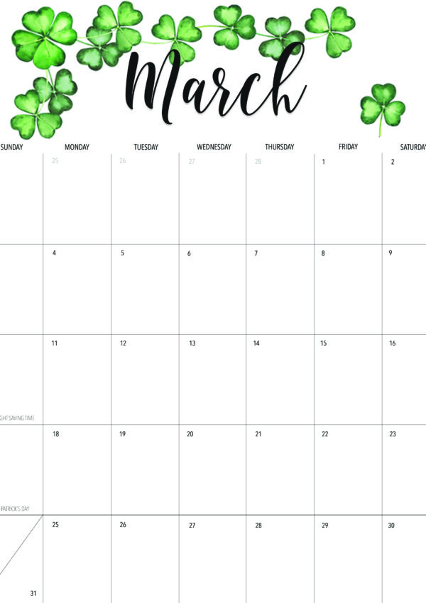 Happy March! + Free March 2019 Printable Calendar