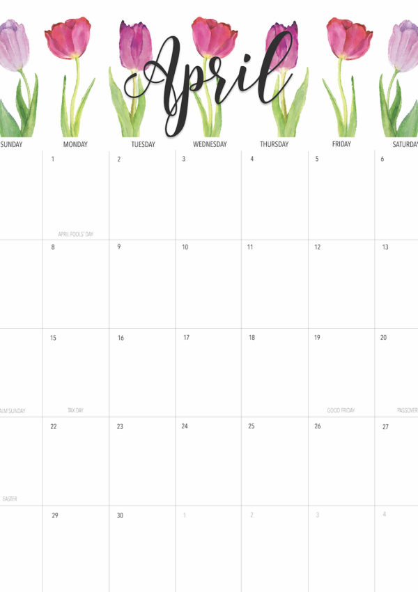 Happy April! + Free April 2019 Printable Calendar