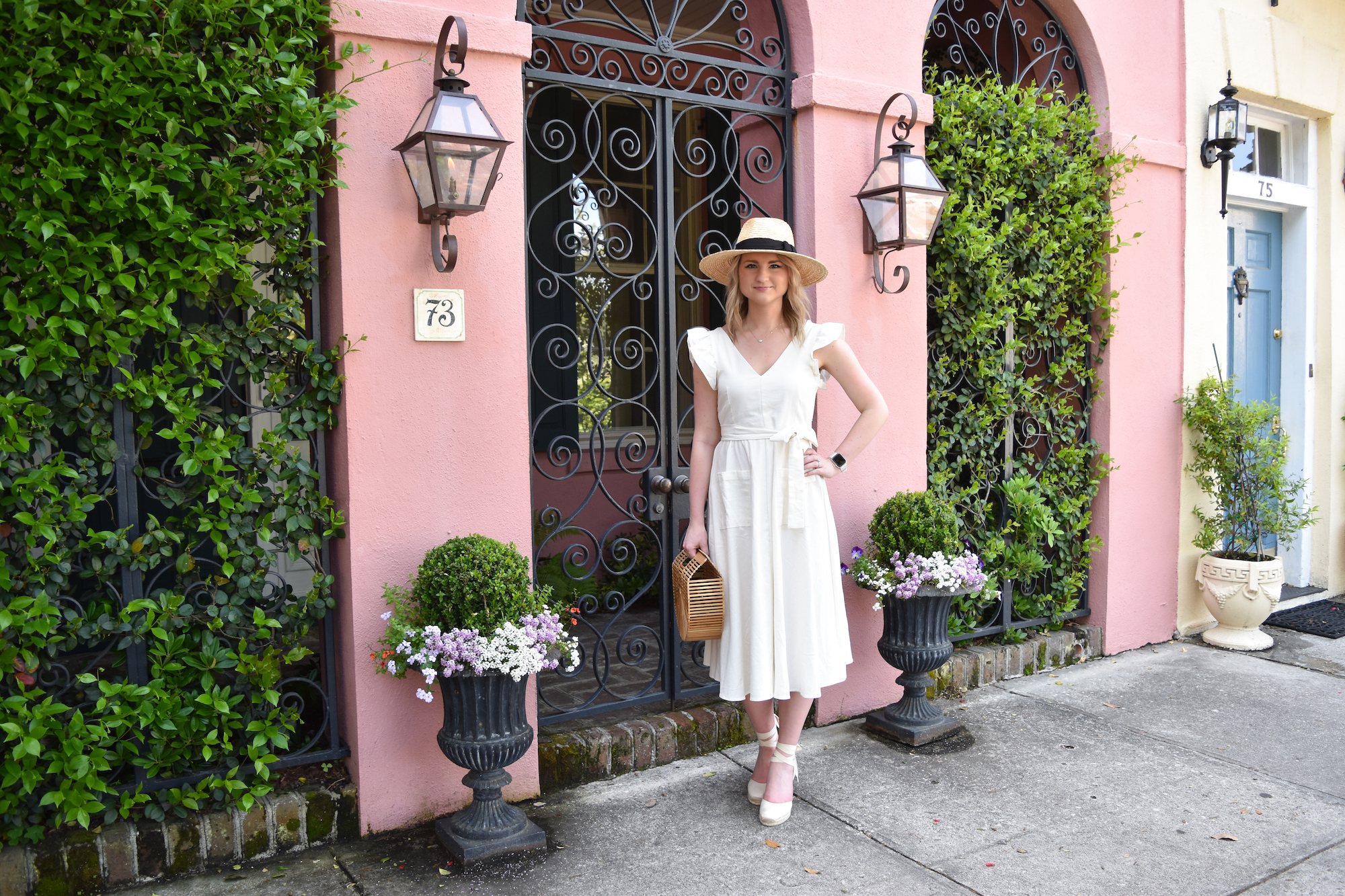 Pink House in Charleston Outfit 5