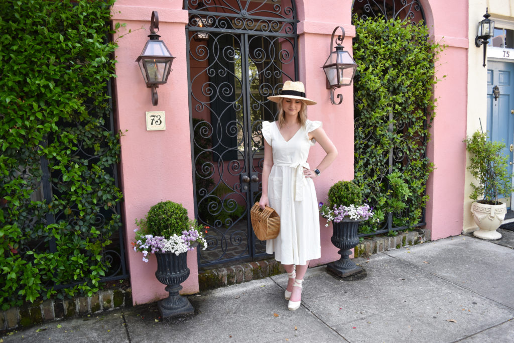 Pink House in Charleston Outfit 3
