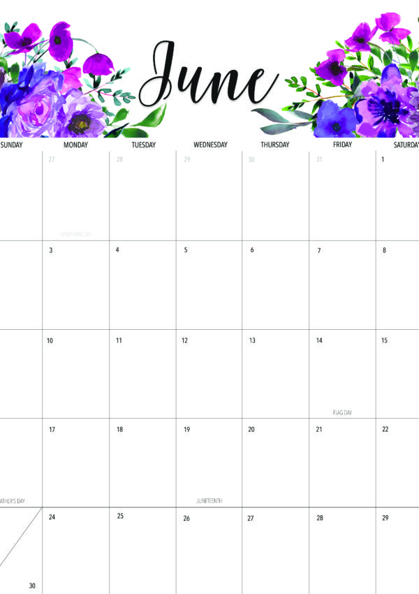 Welcome June + Free June 2019 Printable Calendar!
