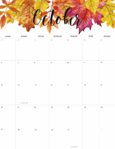 Welcome October + Free October 2019 Printable Calendar!