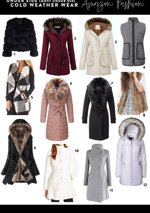 Cold Weather Coats & Jackets + Amazon Giveaway!