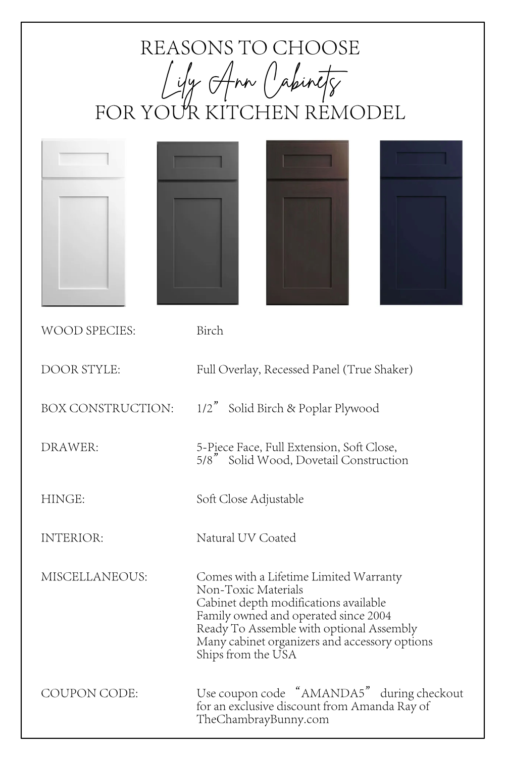 Why Choose Lily Ann Cabinets