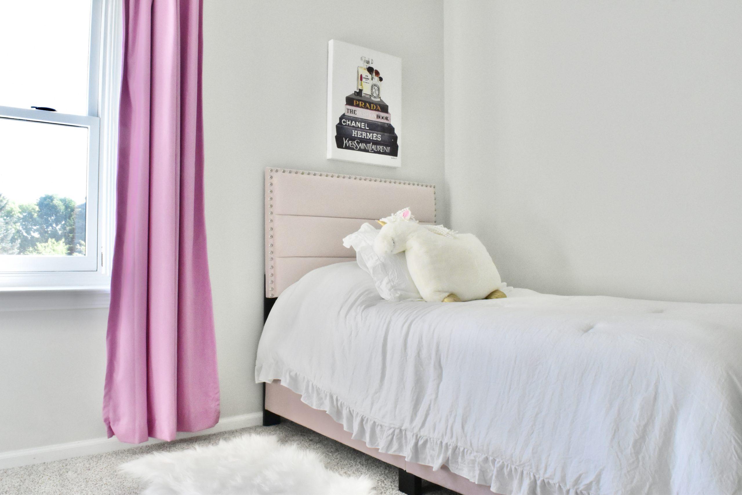 Toddler Girls Room Blush Bed 2