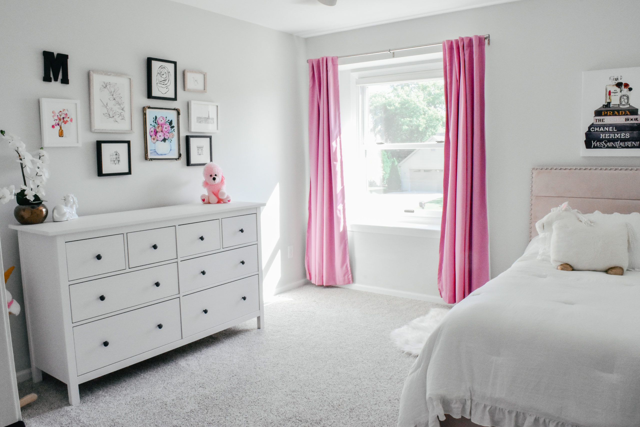 Toddler Girls Room Gallery Wall