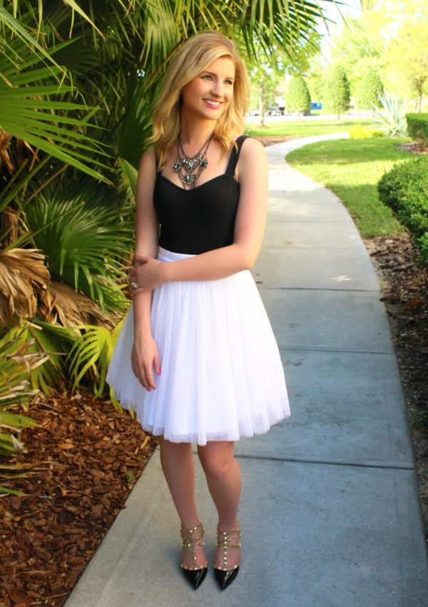 Scalloped Shorts & Tulle Skirt From Day to Night!