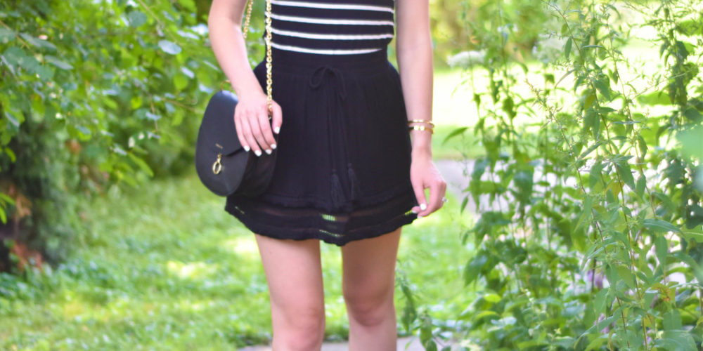 Striped_Tee_Black_Tassel_Skirt_Sam_Edelman_Flats_5