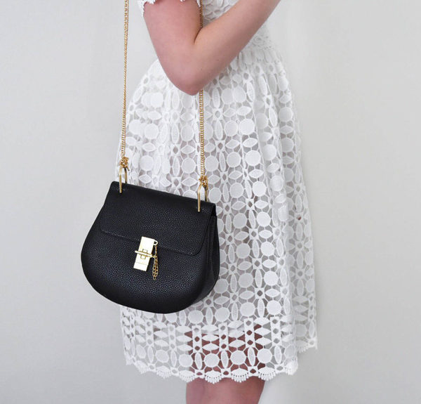 White Crochet Dress – Valentine's Day Outfit Inspiration!
