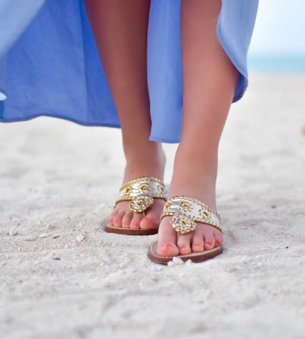 Periwinkle Maxi Dress on the Beach + Easter & Spring Dresses