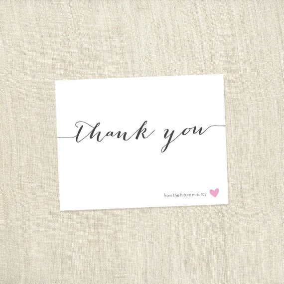 Simple Heart – Bridal Shower Thank You