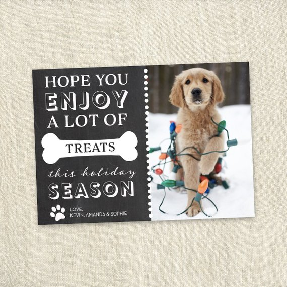 Custom Chalkboard – Pet Holiday Card