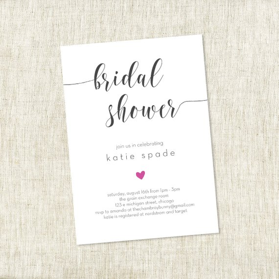 Modern Heart – Bridal Shower Invite