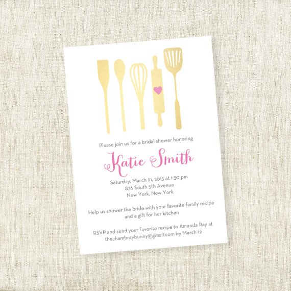Utensil Kitchen Stock Up – Bridal Shower Invite