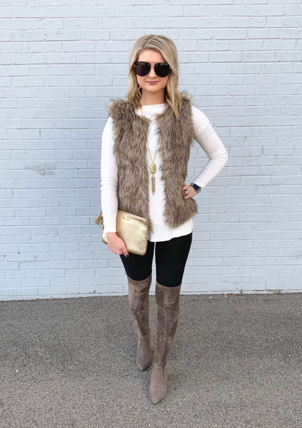 Over-The-Knee Boots + Faux Fur