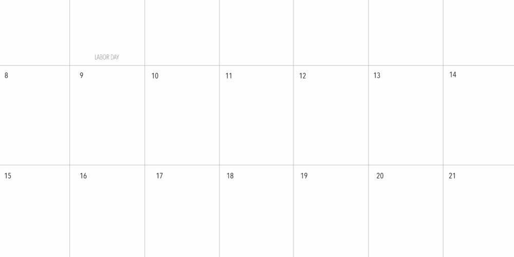 FREE September 2019 Calendar Printable