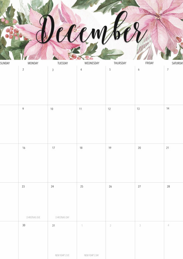Welcome December + Free December 2019 Printable Calendar!