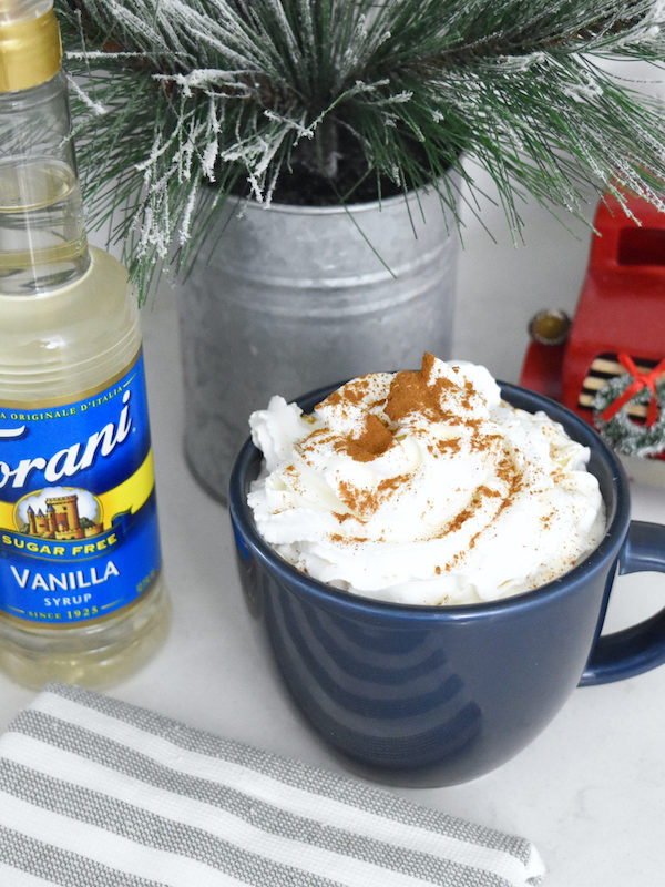 Sugar Free Vanilla Cinnamon Latte | A Guilt-Free Holiday with Torani